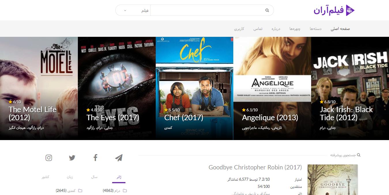 FilmAran Home Page