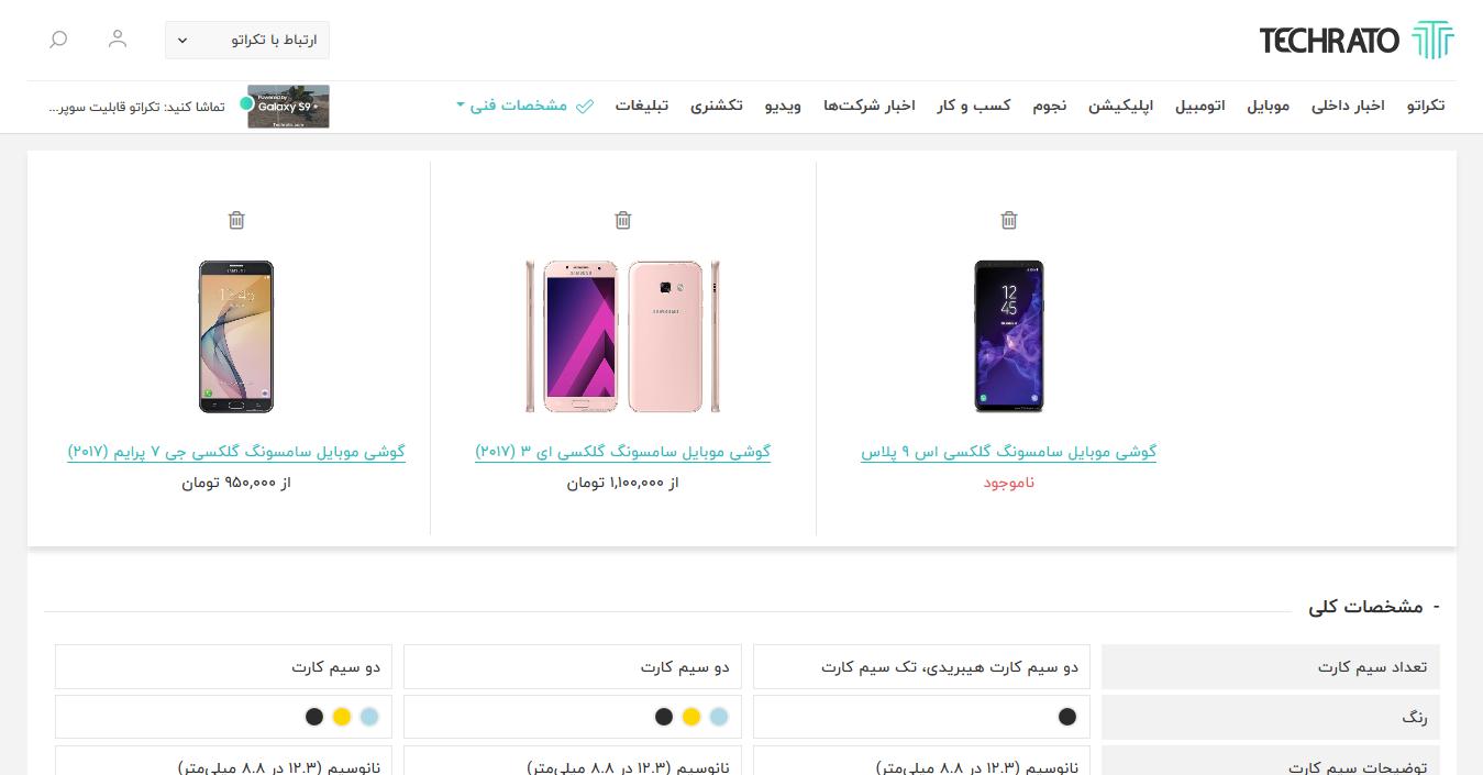 Techrato Mobile Compare